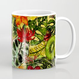 Tropical Vintage Exotic Jungle Flower Flowers - Floral watercolor pattern Coffee Mug