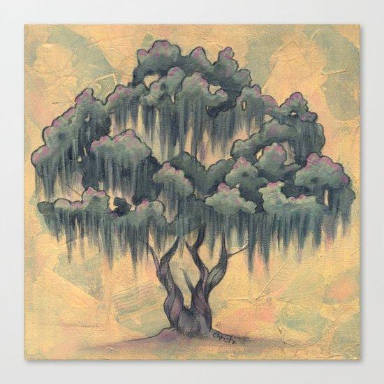 Crepe Myrtle Tree in Bloom Canvas Print