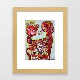 Flora and Frida Framed Art Print