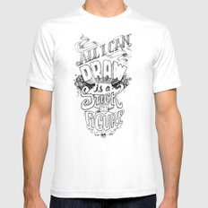 All I Can Draw Mens Fitted Tee SMALL White