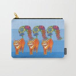 Three Blooming Kitties Carry-All Pouch