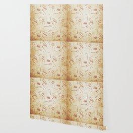 Wizard vintage pattern Wallpaper