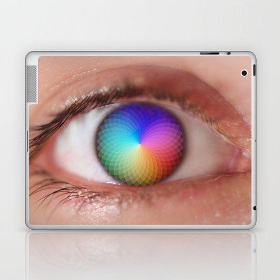 I see all the Colors - Geometric Pantone Eye Vision Laptop & iPad Skin
