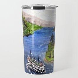 River Boat Journey Travel Mug