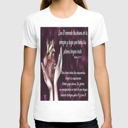 Manos en corazón - Salmo 20, 4 T-shirt