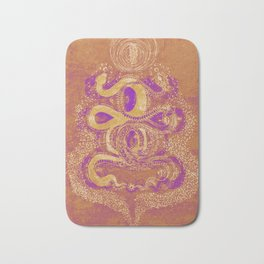 Snake Destiny (Golden Colors) Bath Mat