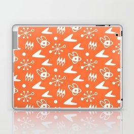 Mid Century Modern Atomic Boomerang Pattern Orange Laptop & iPad Skin