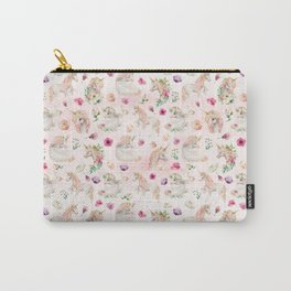 Little Unicorns and Flowers Carry-All Pouch