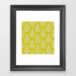 SPIRIT lime white Framed Art Print