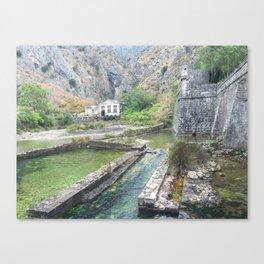 Outside castle walls in Kotor, Montenegro Canvas Print