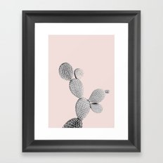 Small cactus plant in pink Framed Art Print