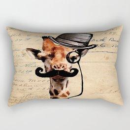 Giraffe Mustache Monocle Tophat Dandy Rectangular Pillow