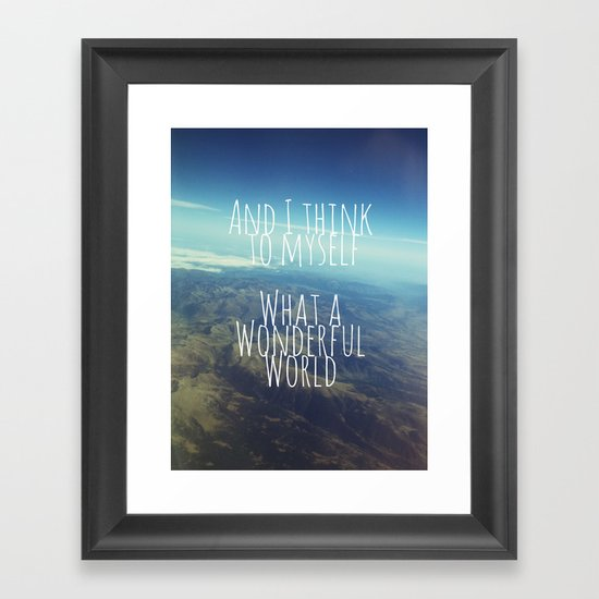 And I Think To Myself... Framed Art Print