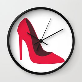 Pink High Heels Wall Clock