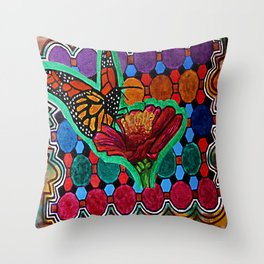 Cindy's Butterfly Throw Pillow