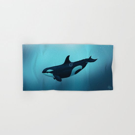 Lost in Serenity ~ Orca ~ Killer Whale Hand & Bath Towel