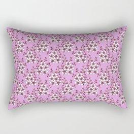 Pink Cherry Blossoms on Lavendar Purple Rectangular Pillow
