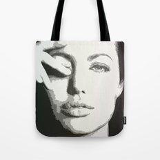 angelina jolie grayscale Tote Bag
