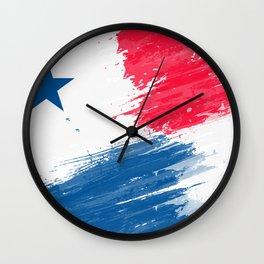 Panama's Flag Design Wall Clock