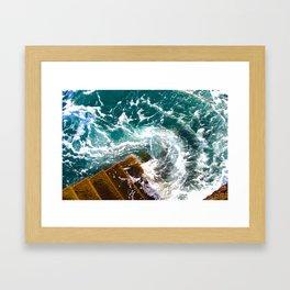 Wave Swirl Framed Art Print