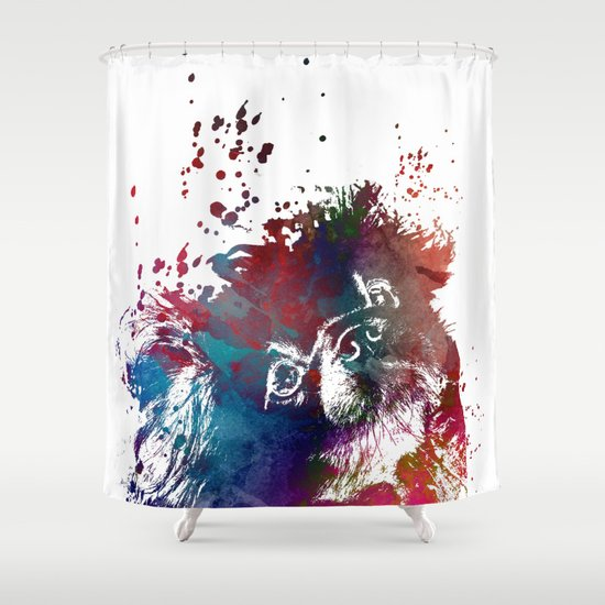 Dog Shower Curtain By Jbjart