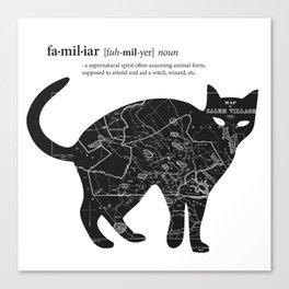 A Familiar Black Cat Canvas Print