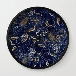 Indigo Jap Fabric Wall Clock