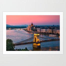 BUDAPEST 02 Art Print