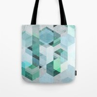 nordic Tote Bags featuring Nordic Combination 22 by Mareike Böhmer