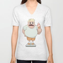 Fat Boy  Unisex V-Neck