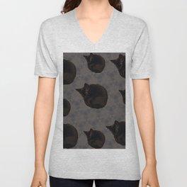 Black cat photo pattern Unisex V-Neck