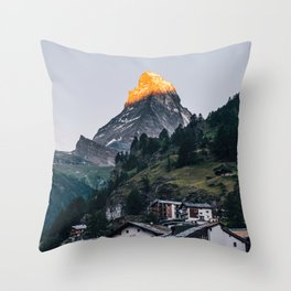 Beautiful Matterhorn in Sunrise Throw Pillow