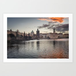Prague Towers Art Print