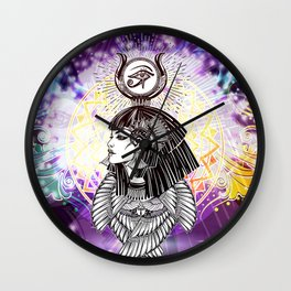 Goddess Isis and the Reigning Light Wall Clock