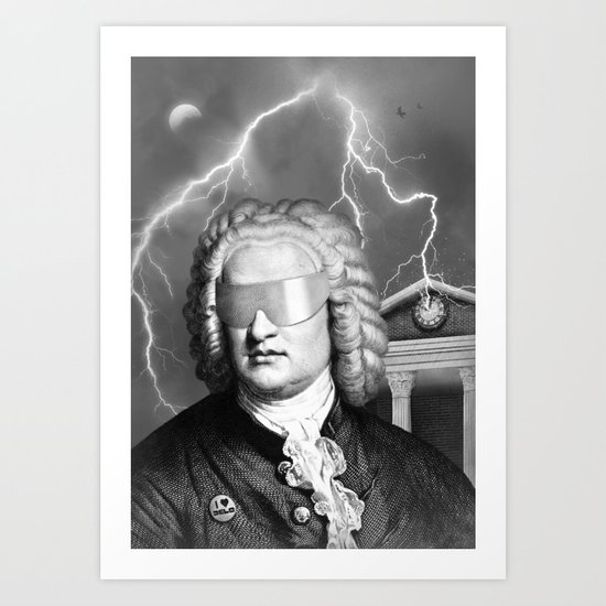 Bach To The Future Art Print
