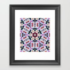 Kaleidoscope Flowers  Framed Art Print