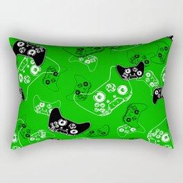Video Game Green Rectangular Pillow