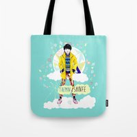 shinee Tote Bags featuring SHINEE Taemin by Haneul Home