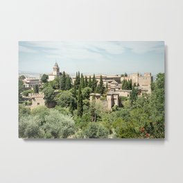 Palace of the Alhambra in Granada Metal Print