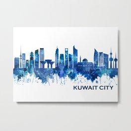 Kuwait City Kuwait Skyline Blue Metal Print