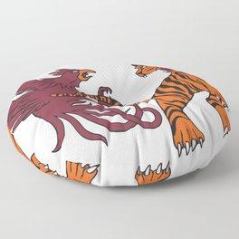 Cocks vs Tigers Floor Pillow