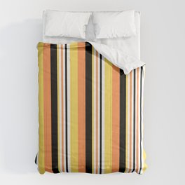 cute yellow,orange,black and yellow stripes Comforters