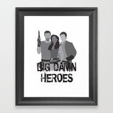 big damn heroes, firefly serenity Framed Art Print
