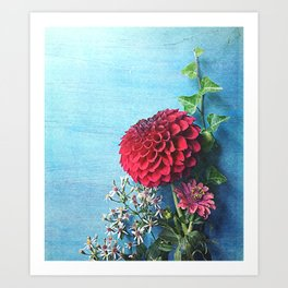 Summer Always Bloomed in Her Heart Art Print
