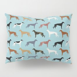 Greyhound Dog pet portrait dog lover must have gifts perfect christmas present for dog person Pillow Sham