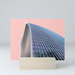 London Architecture in Pink Mini Art Print