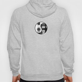 White and Black Acoustic Electric Yin Yang Guitars Hoody