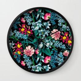 Botanic Floral Pattern Wall Clock
