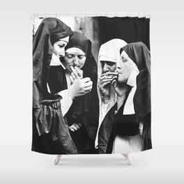 Smoking Nuns Shower Curtain
