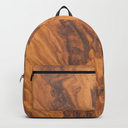 Brown faux wood background Backpack